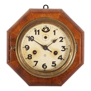 Art Deco Wall Clock by Junghans For Sale