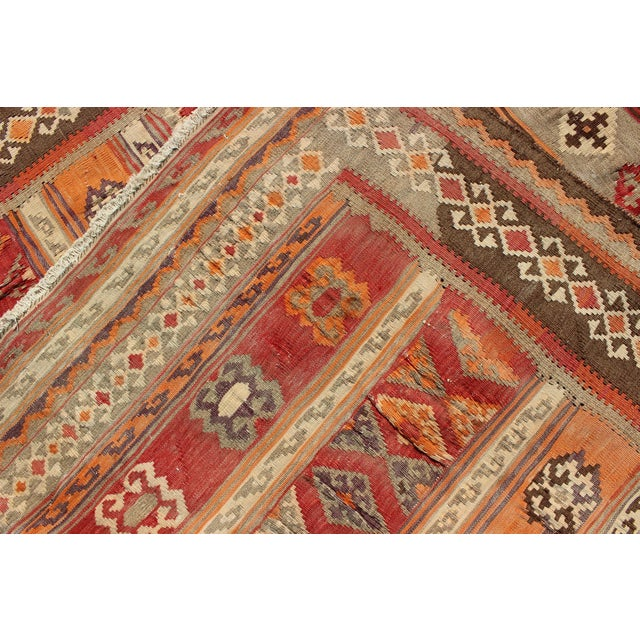 1930s Keivan Woven Arts, S12-0601, 1930's Antique Moroccan Kilim Rug - 5′ × 9′10″ For Sale - Image 5 of 11