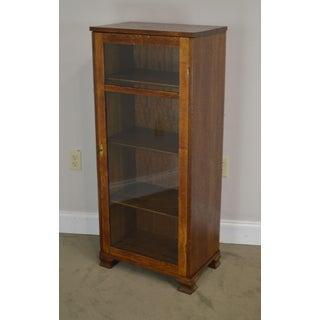 Antique Oak Narrow One Door Bookcase Preview