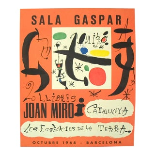 Joan Miro, 2 Llibres: Joan Miro I Catalunya-Les Essencies De La Terra, Lithograph, Edition: 500, 1968, For Sale
