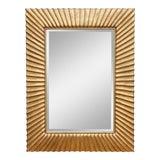 Image of Modern Sunburst Carved Giltwood Mirror For Sale