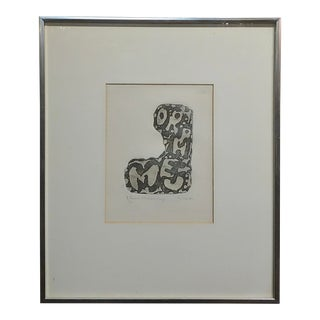 Claes Oldenberg Abstract Composition Circa 1962 Signed and Numbered-Edition of 60 For Sale