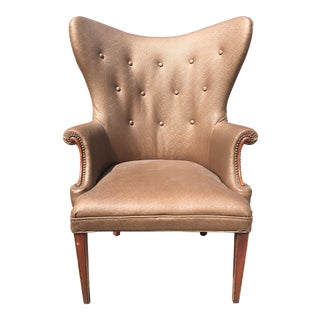 Vintage Butterfly Wingback Chair. Mid Century For Sale
