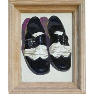 1980s Robert Biancalana Two Tone Gagster Zoot Suit Shoes Painting For Sale