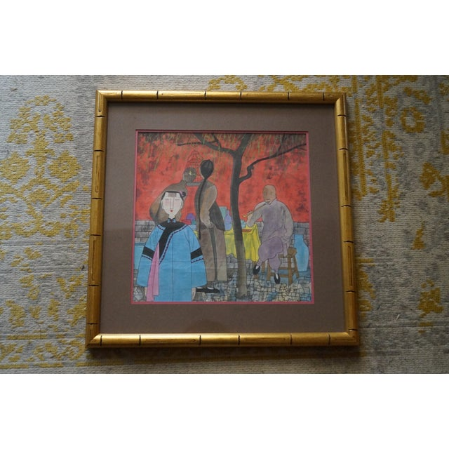 Modern Colorful Chinese Art Print For Sale - Image 4 of 11