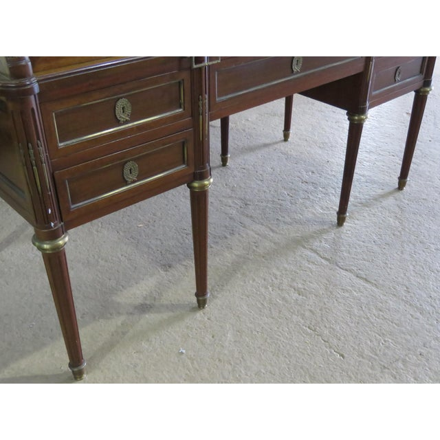 Hollywood Regency Maison Jansen Directoire Style Cylinder Desk For Sale - Image 3 of 11