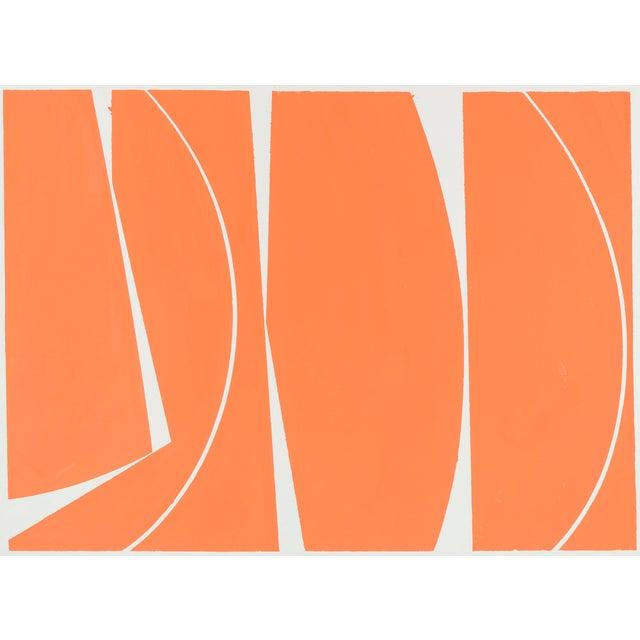 Covers 40 Orange, 2017, Gouache on handmade paper by Joanne Freeman. - Image 2 of 3