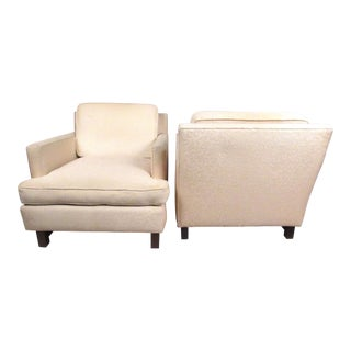Pair of Mid-Century Modern Dunbar Style Lounge Chairs For Sale
