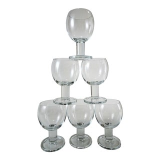 1980s Mid Century Modern Wine Glasses - Set of 6