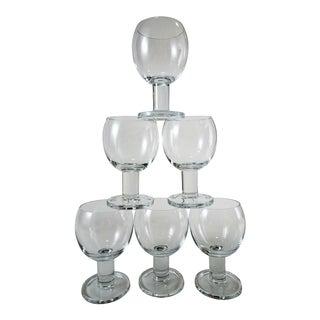 Mid Century Modern Wine Glasses - Set of 6 For Sale