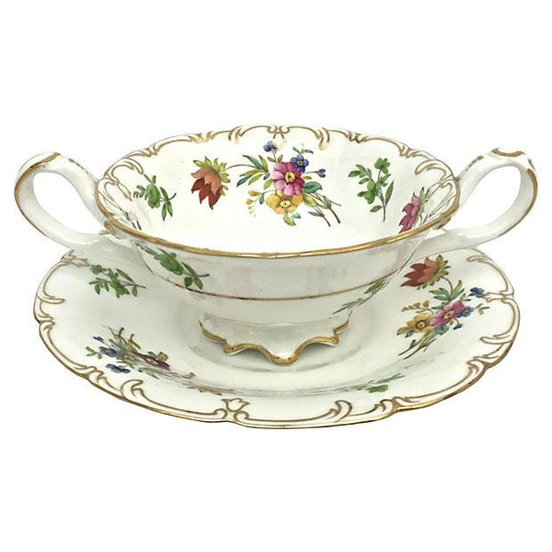 English Soup Cups & Saucers - Set of 6 - Image 3 of 10