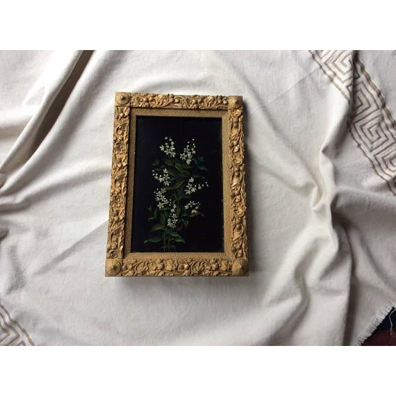 Antique Oil Botanical Painting of Flowering Jasmine For Sale - Image 6 of 7