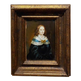Ida Calzolari 19th Century Portrait of anWoman- Original Painting For Sale
