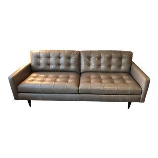 Crate & Barrel Petrie Custom Leather Sofa