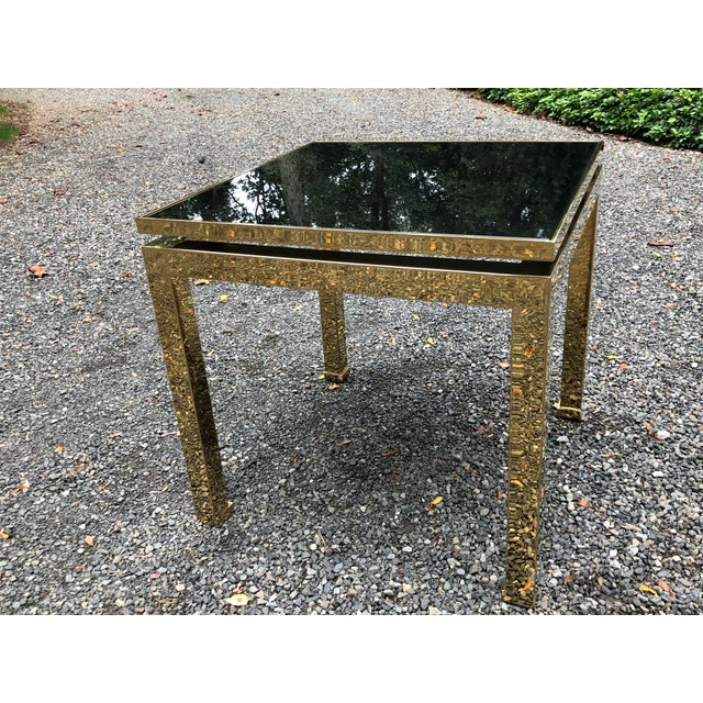 Maison Jansen 1970s French Maison Jansen Brass Occasional Table For Sale - Image 4 of 12