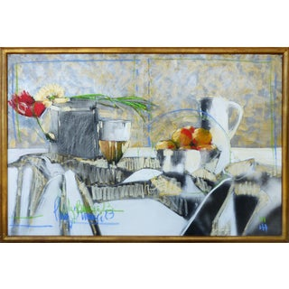 Perez Becerra Abstract Table Still Life Painting For Sale