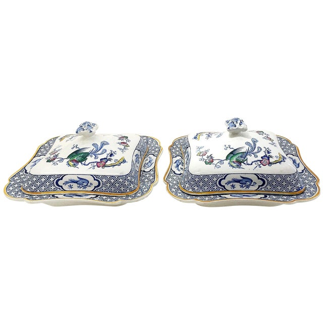 1890s Lawleys Covered Tureens - A Pair For Sale