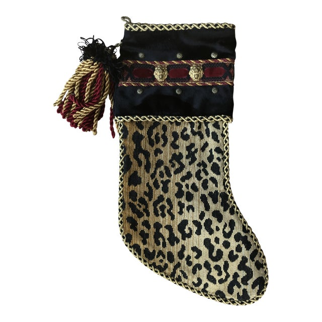 Christmas Stocking in Leopard For Sale