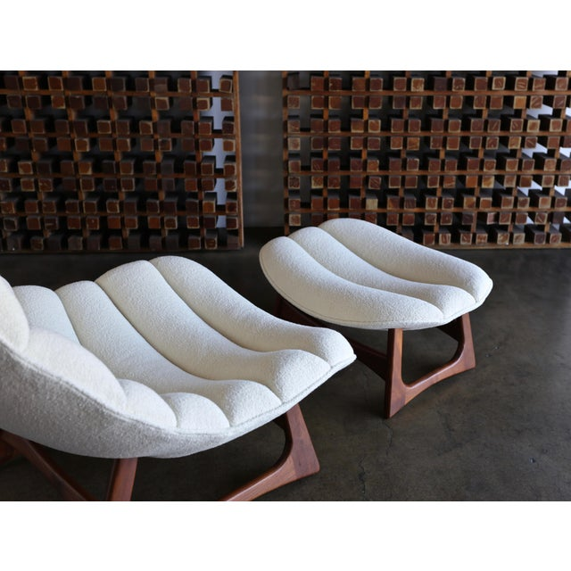Adrian Pearsall Lounge Chair and Ottoman for Craft Associates Inc., Circa 1960 For Sale - Image 9 of 13