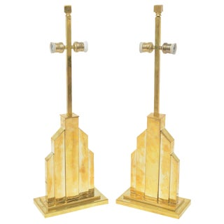 Signed Romeo Rega Table Lamps - Pair For Sale