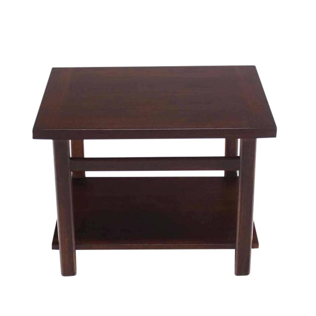 Mid-Century Modern Walnut Side Table For Sale