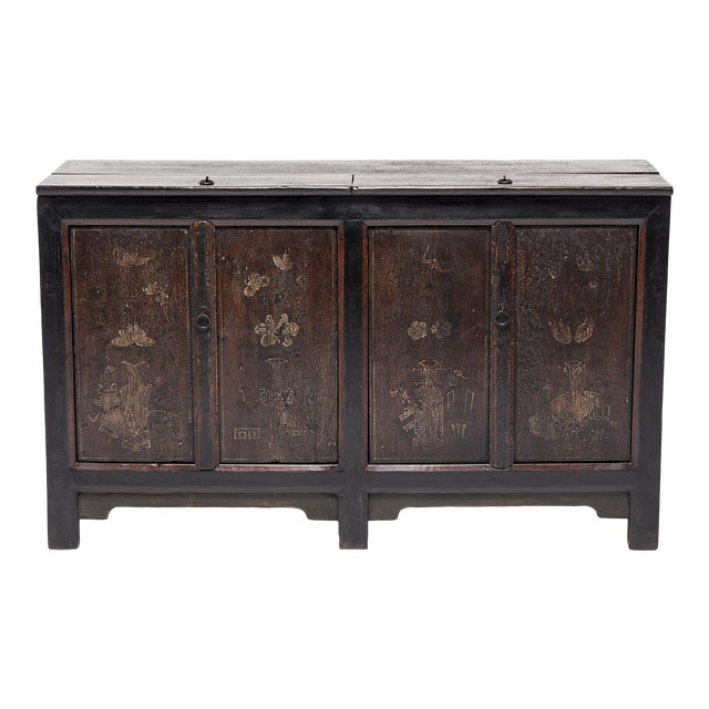 Chinese Four Seasons Painted Coffer For Sale