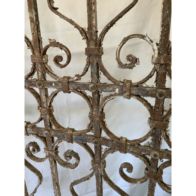 French Country 1920s Parisian Pedestrian Garden Gate For Sale - Image 3 of 13