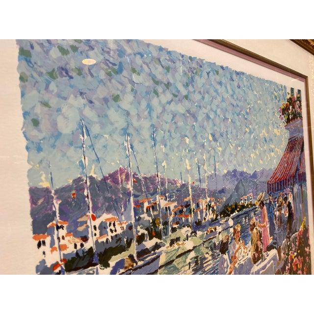 This Coastal Side Serigraph by Hazel Soan is 283/350 of Limited Edition Original Prints. Hazel Soan is a British artist...