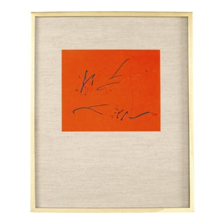 Robert Motherwell and Octavio Paz Three Poems Cover Lithograph For Sale