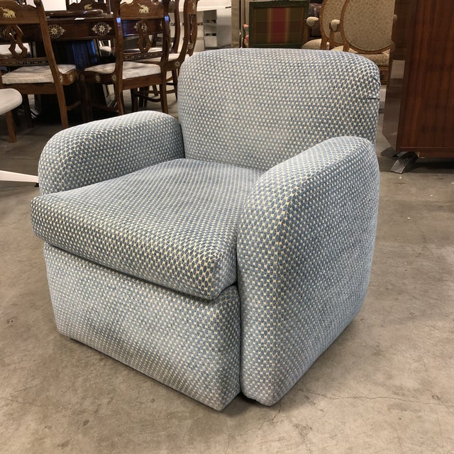 Design Plus Gallery presents a Custom Swivel Arm Chair by Steve Chase. Original purchase by Steve Chase, was custom...
