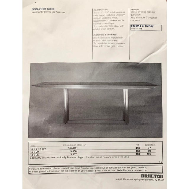 Stanley Friedman Stainless Steel Dining Table for Brueton For Sale - Image 11 of 13