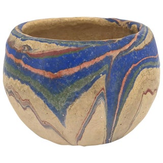1930s Ozark Swirl Pottery Early Touring Souvenir Cactus Bowl Dish Roadside Gift For Sale