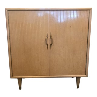 1950s Mid-Century Modern Lane Furniture Cedar Blonde Mahogany Server For Sale