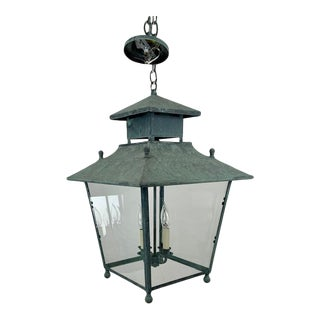 Single 4 Light Lantern by Genie House For Sale