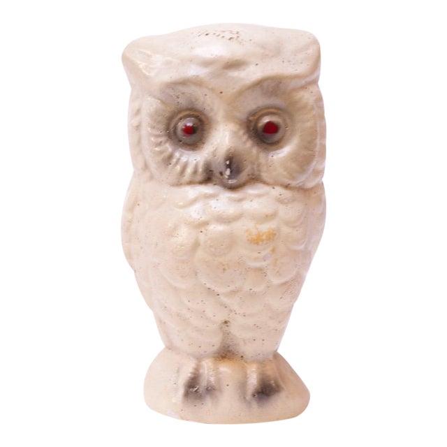 1950s Diminutive Chalkware Owl Figurine For Sale