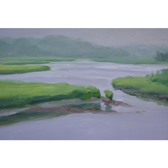 """Stephen Remick """"Adamsville Landing"""" Contemporary Plein Air Painting by Stephen Remick For Sale - Image 4 of 13"""