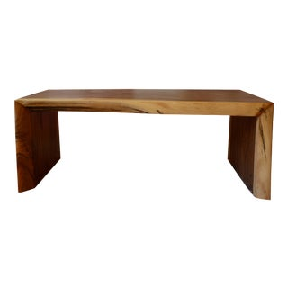 1940s Boho Chic Indonesian Rosewood Coffee Table For Sale