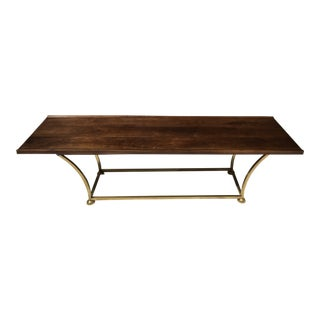 MCM Walnut & Brass Coffee Table/ Bench For Sale