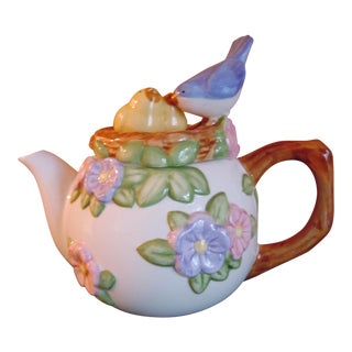 Teleflora Nesting Birds Gift Collection Tea Pot