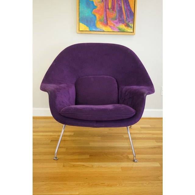 Mid-Century Modern Authentic Eero Saarinen for Knoll Purple Womb Chair For Sale - Image 12 of 12