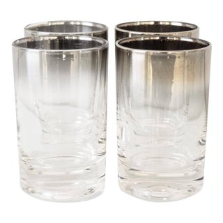 Mid Century Dorothy Thorpe Silver Fade Shot Glasses - Set Of 4 For Sale