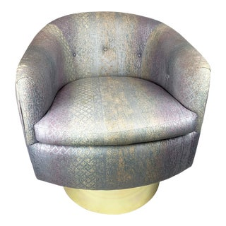 Milo Baughman Thayer Coggin Swivel Lounge Chair For Sale