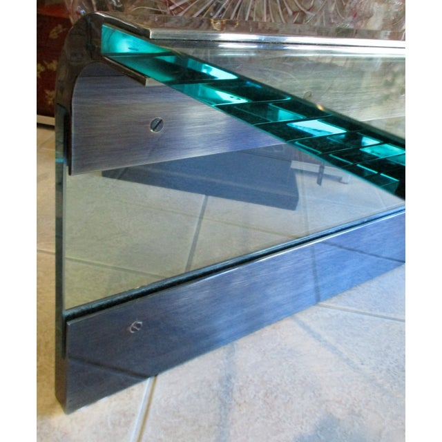 Metal 1970s Pace Collection Waterfall Coffee Table by Leon Rosen For Sale - Image 7 of 8