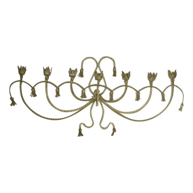 Antique Early 1900's Italian 7 Candle Candelabra Sconce For Sale