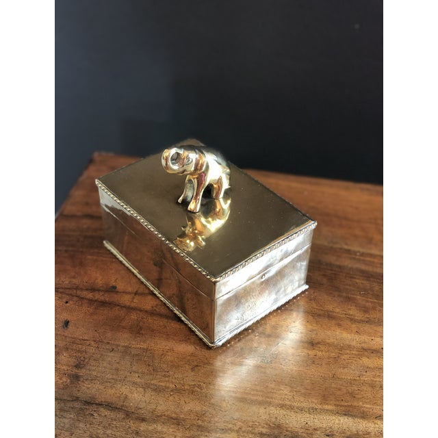Vintage Elephant Brass Box For Sale - Image 9 of 10