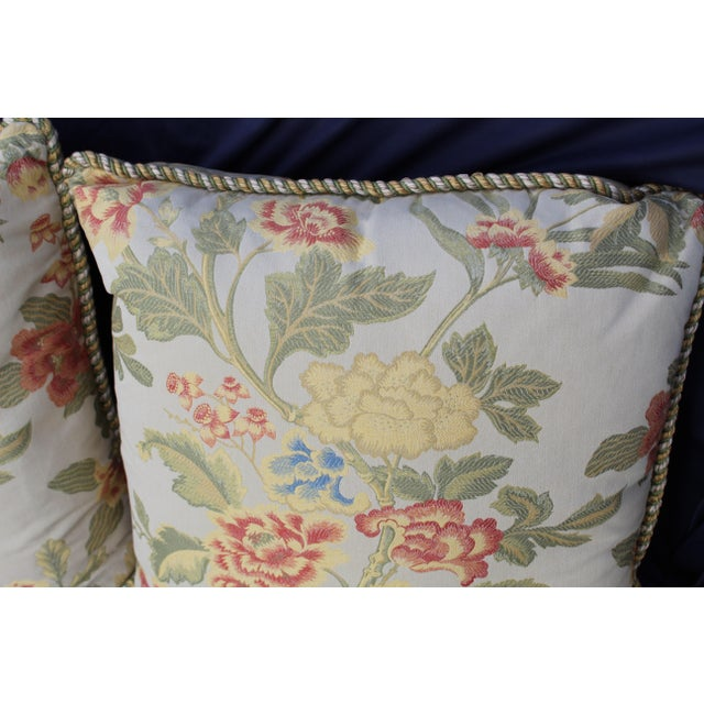 Feather Pr. Of Possible Italian Scalamandre Down Filled Pillows For Sale - Image 7 of 13