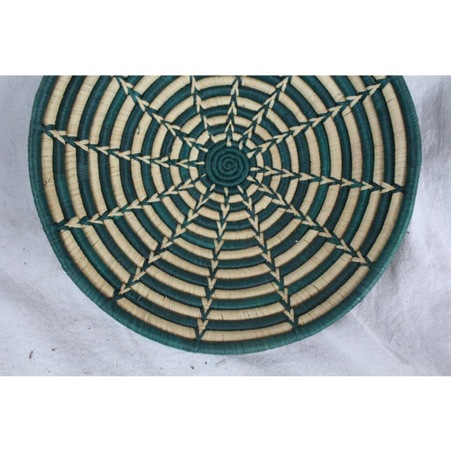 Mid 20th Century Ghanian Green Starburst Basket For Sale - Image 5 of 7