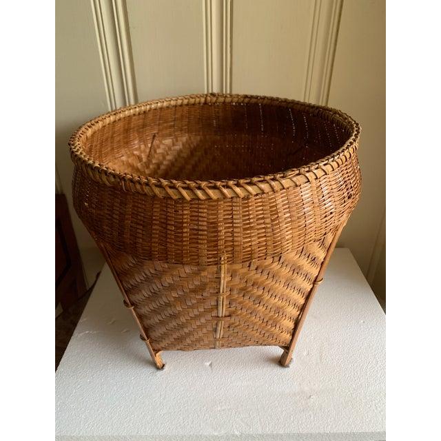 Vintage Balinese Decor Storage Basket For Sale - Image 11 of 12
