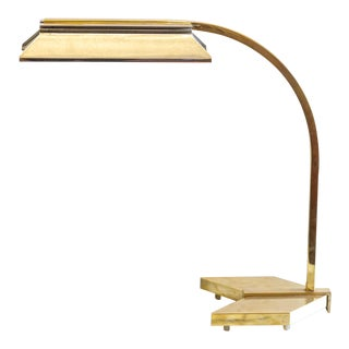 Vintage Casella Lighting Modern Arrow Brass and Copper Desk Lamp For Sale