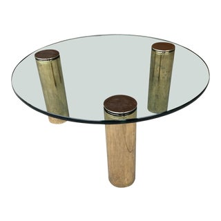 Leon Rosen for Pace Collection Brass & Glass Table